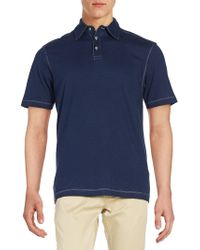 James Campbell - Striped Cotton Polo - Lyst
