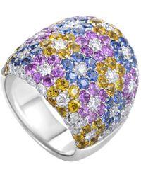 Pasquale Bruni - 18k 7.06 Ct. Tw. Diamond & Sapphire Ring - Lyst