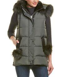 Nicole Benisti Centro Leather-trim Vest
