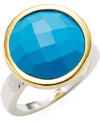 Gurhan - Silver, Gold & Turquoise Cocktail Ring - Lyst
