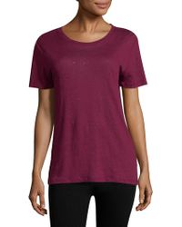 IRO - Clay Distressed Cutout Linen Tee - Lyst
