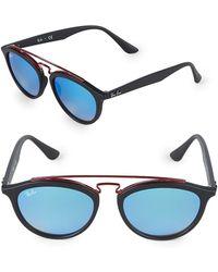 Ray-Ban - Round Aviator Sunglasses - Lyst