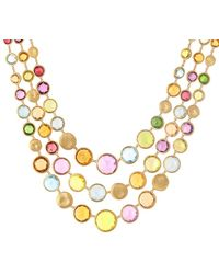 Marco Bicego Jaipur Colour 18k Gemstone Three Strand Necklace - Metallic
