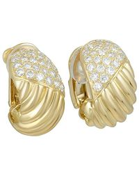 Heritage Van Cleef & Arpels - Van Cleef & Arpels 18k 1.47 Ct. Tw. Diamond Earrings - Lyst