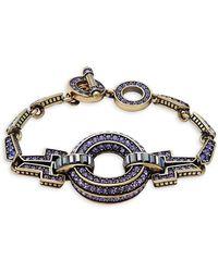 Heidi Daus | Crystal Circle Toggle Bracelet | Lyst