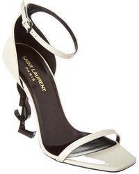 Saint Laurent - Opyum 110 Patent Sandal - Lyst