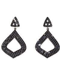 Arthur Marder Fine Jewelry - Silver Black Spinel Earrings - Lyst