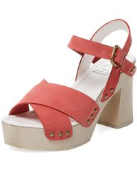 KMB - Tino Leather Platform Sandal - Lyst