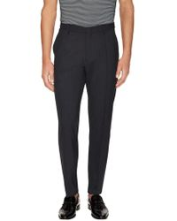 Armani - Solid Pleated Chinos - Lyst