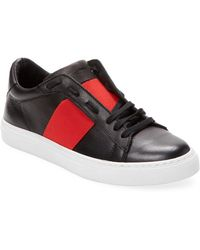Russell Park - Leather Court Low Top Sneaker - Lyst