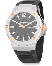 Ferragamo - Classic Stainless Steel And Rubber Strap Watch - Lyst