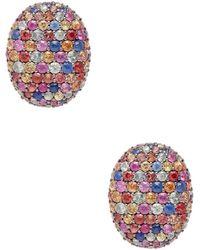 Effy - Sterling Silver & Multi-color Sapphire Stud Earrings - Lyst