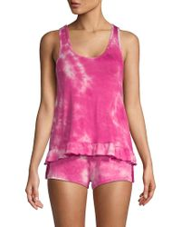 Betsey Johnson - Two-piece Tie-dyed Shorty Pyjama Set - Lyst