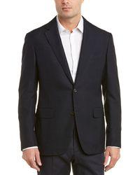 Pal Zileri Textured Wool-blend Sport Coat - Blue