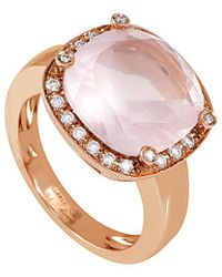Poiray - 18k Rose Gold 5.22 Ct. Tw. Diamond & Quartz Ring - Lyst