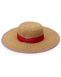 San Diego Hat Company - Floppy Stripe Trim Sun Hat - Lyst