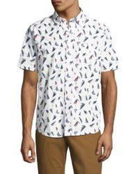 Tailor Vintage - Printed Seersucker Sportshirt - Lyst