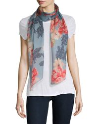 Vince Camuto - Blooms Silk Scarf - Lyst