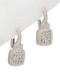 Judith Ripka La Petite Silver 0.32 Ct. Tw. White Topaz Earrings - Multicolour