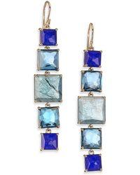 Ippolita - Rock Candy Liberty Semi-precious Multi-stone & 18k Yellow Gold Linear Drop Earrings - Lyst