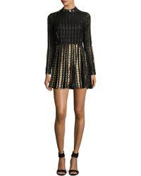 Dodo Bar Or - Brenda Colorblocked Metallised Flared Dress - Lyst