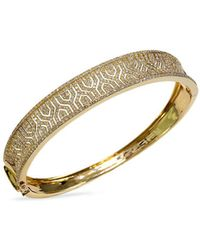 Effy - Doro Diamond And 14k Yellow Gold Bangle Bracelet, 1.98 Tcw - Lyst