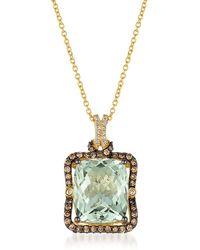 Le Vian - 0.64 Tcw Diamonds, Quartz And 14k Yellow Gold Pendant Necklace - Lyst