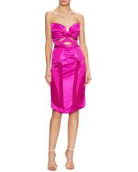 Gabriela Cadena - Silk Cut Out Sweetheart Sheath Dress - Lyst