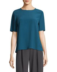 Eileen Fisher - Crepe Relaxed-fit Tee - Lyst