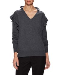 Stella McCartney - Wool Gathered Trim Sweater - Lyst