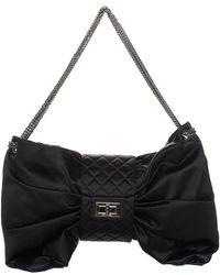 5677ed48443b Chanel - Limited Edition Black Quilted Satin Runway Xl Maxi Bag, Never  Carried - Lyst
