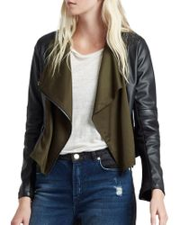 French Connection - Filomena Faux Leather Jacket - Lyst