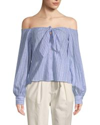 Free People - Hello There Beautiful Off-shoulder Blouse - Lyst