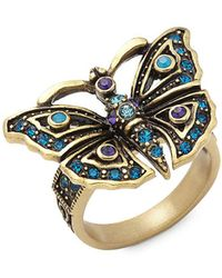 Heidi Daus - Butterfly Crystal Ring - Lyst