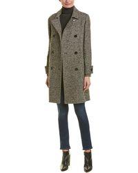 Cinzia Rocca Cinzia Rocca Wool-blend Coat - Black