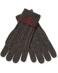 Fred Perry - Tipped Cable Wool Gloves - Lyst