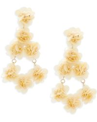 Natasha Couture - Floral Beaded Statement Earrings - Lyst