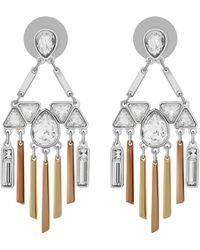Swarovski - Crystal Airy Plated Drop Earrings - Lyst