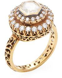 Amrapali - 14k Yellow Gold & 1.45 Total Ct. Diamond Ring - Lyst