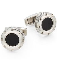 Colibri - Onyx & Stainless Steel Screw Cuff Links - Lyst