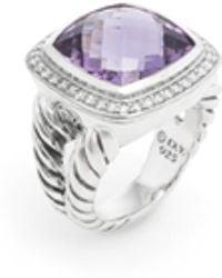 David Yurman - Sterling Silver, Amethyst & 0.35 Total Ct. Diamond Albion Ring - Lyst