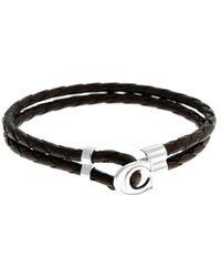 Canali - Leather Bracelet - Lyst