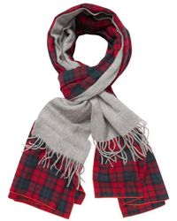"Donni Charm - Donni Merge Plaid Wool Scarf, 88"" X 18"" - Lyst"