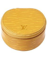 Louis Vuitton - Yellow Epi Leather Ecrin Bijoux 8 - Lyst