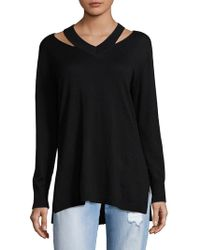 Vince Camuto - Cutout V-neck Pullover - Lyst