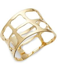 Robert Lee Morris - Plaid Wide Bangle Bracelet - Lyst
