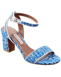 Tabitha Simmons Leticia Tweed & Nappa Leather Sandal