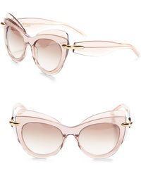 Pomellato - 51mm Layered Butterfly Sunglasses - Lyst