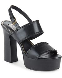 Rachel Zoe - Halina Leather Open-toe Platform Sandals - Lyst