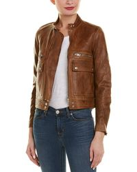 Zadig & Voltaire - Love Aviator Leather Jacket - Lyst